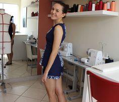 Look com blusa e short feito com o tecido que sobrou! #look #style