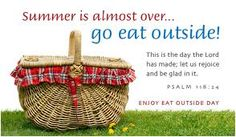 August 31  National Eat Outside Day