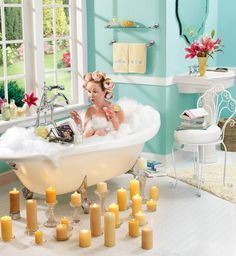 This is me!  I read in the bathtub ALL THE TIME!