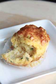 Chive and cheese savory muffins - mine came out much uglier - but delicious!