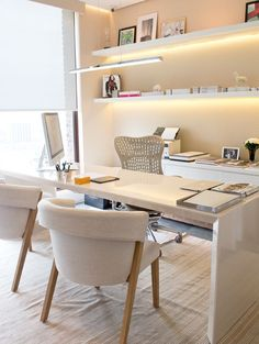 Beautiful and serene home office.