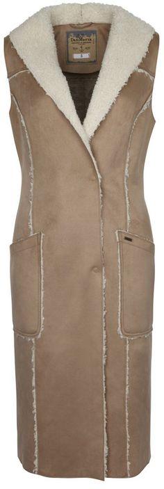 DREIMASTER Weste für 64,95€. Innovative Kunstlederweste, Hochwertiges Kunstleder, Weicher Teddy-Fleece-Kragen, Aufgesetzte Taschen bei OTTO