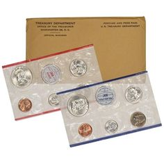 PD in mint cellos Three coin set 2001 P D S BU and Proof Lincoln Cents