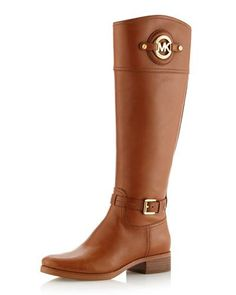 X1T49 MICHAEL Michael Kors  Stockard Leather Riding Boot
