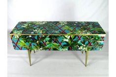 Upcycled Mid Century Sideboard With Christian Lacroix Decoupage | Vinterior London  #vintage