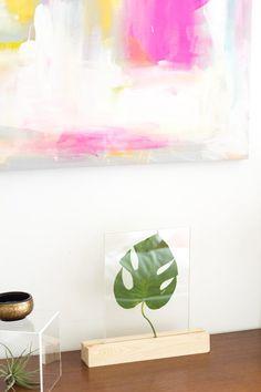 How to Make a Plexiglass Framed Leaf Home Accessory | eHow