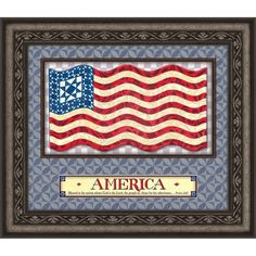 22x19 Wall Art God Bless America, Multi