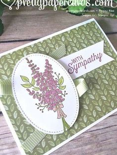 Homemade Greeting Cards, Greeting Cards Handmade, Lavender Stamp, Stampin Up Anleitung, Stamping Up Cards, Rubber Stamping, Get Well Cards, Paper Cards, Cool Cards