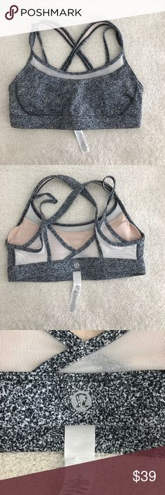 Lululemon sports bra New never worn sports bra. Super cute! Too big for me 😞 available to a good home ☺️ lululemon athletica Tops Tank Tops