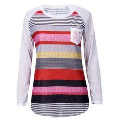 Lace Pocket and Stripes Top -- Fashion. www.psiloveyoumoreboutique.com