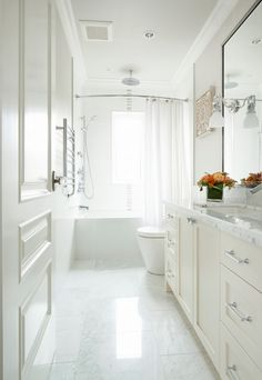 breathtaking all white bathroom | 1000+ images about All-White Baths on Pinterest ...