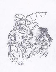 이레즈미,칠복신,칠복신도안,칠복신뜻,칠복신의미 : 네이버 블로그 Tattoo Design Drawings, Tattoo Sketches, Skeleton Drawings, Tattoo Background, God Tattoos, Japanese Mask, Buddha Tattoos, Japanese Dragon Tattoos, Japanese Tattoo Designs