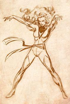 Phoenix by John Byrne Marvel Comics, Heros Comics, Bd Comics, Marvel Comic Books, Marvel Art, Comic Books Art, Jean Grey, Comic Book Artists, Comic Artist