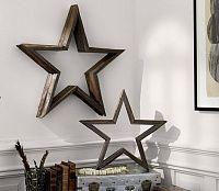 Декоративная полка - звезда (дерево, не окрашенная D-40см)