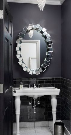 Z Gallerie, Royce Mirror $449.00   Perfect For A Small Bathroom Http://