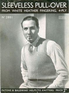 1930 v-neck sleeveless pullover