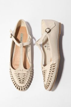Crave.  T-straps and woven leather is a love affair to remember.  via urbanoutfitters. $38.00