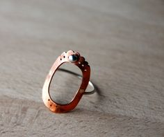 I think I would like this ring more with a different stone. Would the copper turn my finger green?