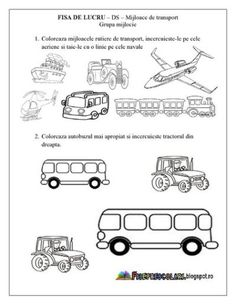 Motor Skills Activities, Youth Activities, Preschool Education, Preschool Worksheets, Preschool Activities, Kindergarten, Transportation Theme, Printable Numbers, Thing 1