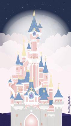 Cinderella Castle iPhone Wallpaper Night