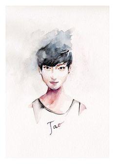 TaoExo inspirated Portrait by YoYomiyoko on Etsy, $17.00