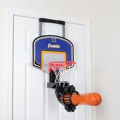 The Automatic Return Indoor Basketball Net - Hammacher Schlemmer