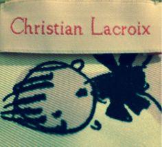 Christian Lacroix label font via  @wendy_freestone