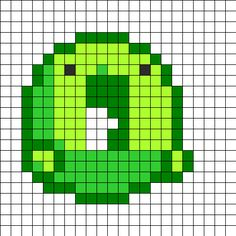 Cute Little Bubble Monster Perler Bead Pattern / Bead Sprite