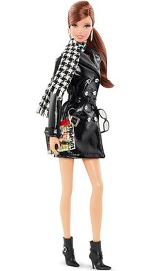 """Tim Gunn Barbie - Valley of the Dolls - Black & White Houndstooth Check - Popular Pattern for Fall 2013 #fashion"""