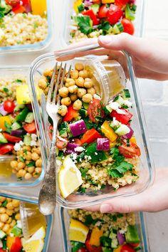 healthy Greek couscous salad
