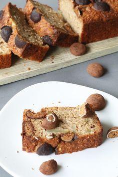 Truffel pepernotencake van havermout, Gezonde cakerecepten, Glutenvrije cakes, Gezonde tussendoortjes, Glutenvrije tussendoortjes, Glutenvrije foodblogs, Beaufoodrecepten, Gezonde foodblogs