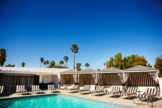 The Pool House in Palm Springs - image via grey likes weddings, photo by Trever Hoehne