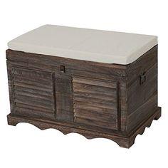 Coffre Richard PIN MASSIF Coffre en bois rangement boîte box caisse en bois marron