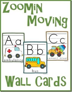 FREE {and cute!} ABC Wall Cards - Frugal Homeschool Family
