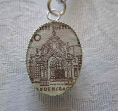 1965 Dresden German Postage Stamp Pendant