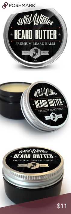 Wild Willie's Beard Butter Beard Conditioner Balm Brand new. Beard butter keeps your hair conditioned, smooth and soft, while also giving it a slight hold. It helps keep follicles moist, promoting growth from the inside out. Use it frequently and see your beard strengthen and your hair growth boost. Tame wild hair and keep it in place. Get rid of coarse texture and improve your appearance. Combat split ends and hair growing in all directions! Reduces irritation and prevents beard dandruff…