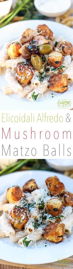 Want a cool way to enjoy your next past Alfredo dish? How about our Elicoidali  Alfredo + Parmigiano Mushroom Matzo Balls? Well, we got the deets on this cool recipe for Matzo balls! Yep! These aren't your Nonna's Matzo balls. Sure, some of the ingredients are the same but we added a few non-traditional extras. …