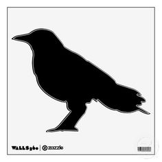 Black Crow Animal Silhouette wall decal
