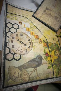 """See Process videos for creating this Altered Folio on YT """"velocityvette08"""" playlist """"Tim Holtz Folio"""" Items used can be purchased on Etsy at """"TupeloDesignsLLC""""!"""