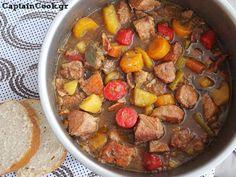 Captain Cook: Χοιρινό με Μπύρα και Λαχανικά Pork Recipes, Pot Roast, Easy Meals, Beef, Ethnic Recipes, Food, Beautiful, Carne Asada, Essen