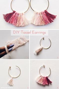 146 Best Diy Tassel Earrings Images Bracelets Diy Jewelry Tassel