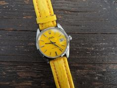 A yellow Rolex.