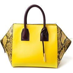 Yellow With Python Detail  Tote by Stella McCartney