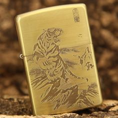 Etching Brass the Tiger Roars Limited Edition Zippo Lighter