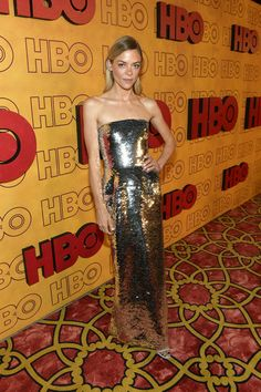 Jaime King Strapless Dress - Jaime King radiated in a strapless sequin gown by Oscar de la Renta at the HBO post-Emmy reception.