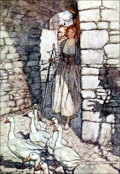 Art by Arthur Rackham (1920) from the book SNOWDROP AND OTHER TALES.