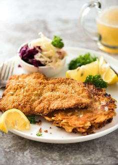 There is nothing quite like a freshly made schnitzel. Extra crunchy and golden, make this with pork, chicken, veal or turkey! Plus a mushroom gravy recipe!