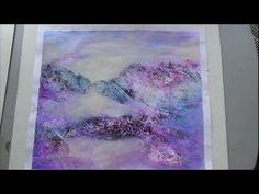 Acrylmalerei Strukturen mit Folie drucken - YouTube