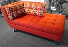 Ava One Arm Chaise. Made in the USA! Available at Scanhome Furnishings in Green Bay.