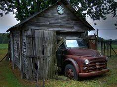 Old Dodge Truck.   Mmmh... Truck to big, or shed to small?